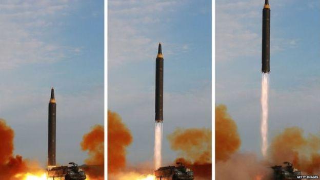 अाफ्नै सहरमा खस्याे उत्तर कोरियाको क्षेप्यास्त्र