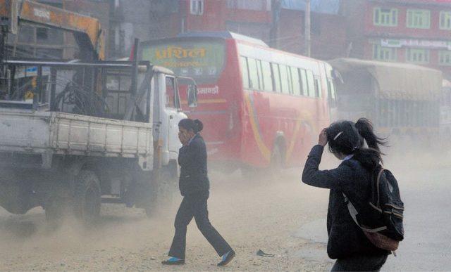धुलो व्यवस्थापन सुस्त : राजधानीमा वायु प्रदूषण बढ्दो