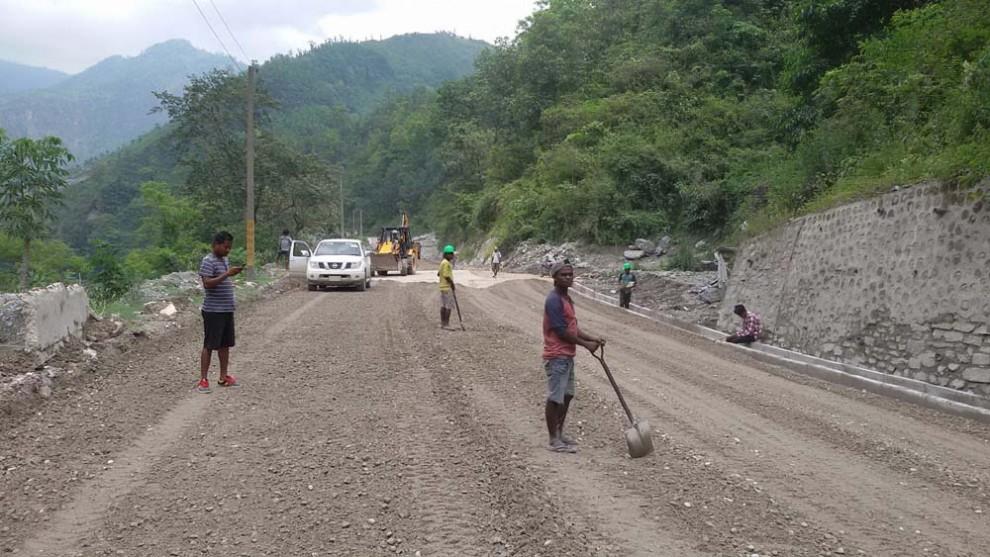 नारायणगढ–मुग्लिन सडक चार दिन बन्द नहुने