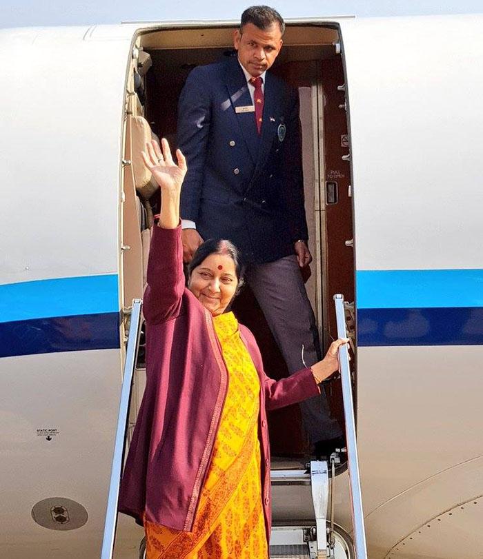 भारतीय विदेश मन्त्री स्वराज नेपालमा