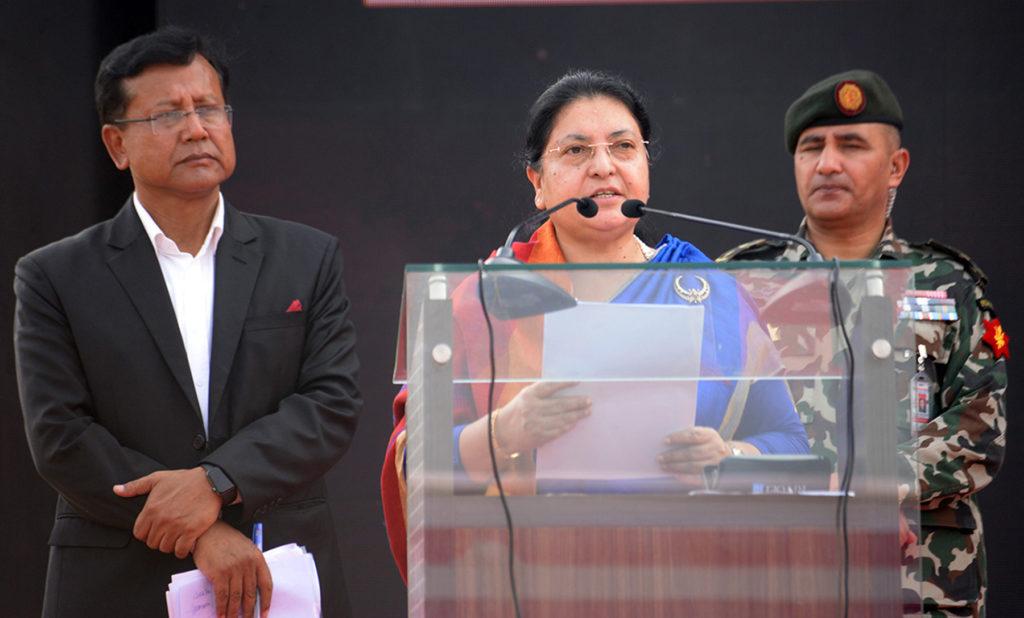 नेपाली चलचित्र जगत्लाई अगाडि बढाउन राष्ट्रपतिको जोड