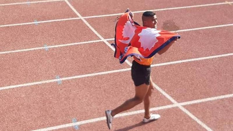 ५ हजार मिटर दौडमा नेपाललाई स्वर्ण र काँस्य