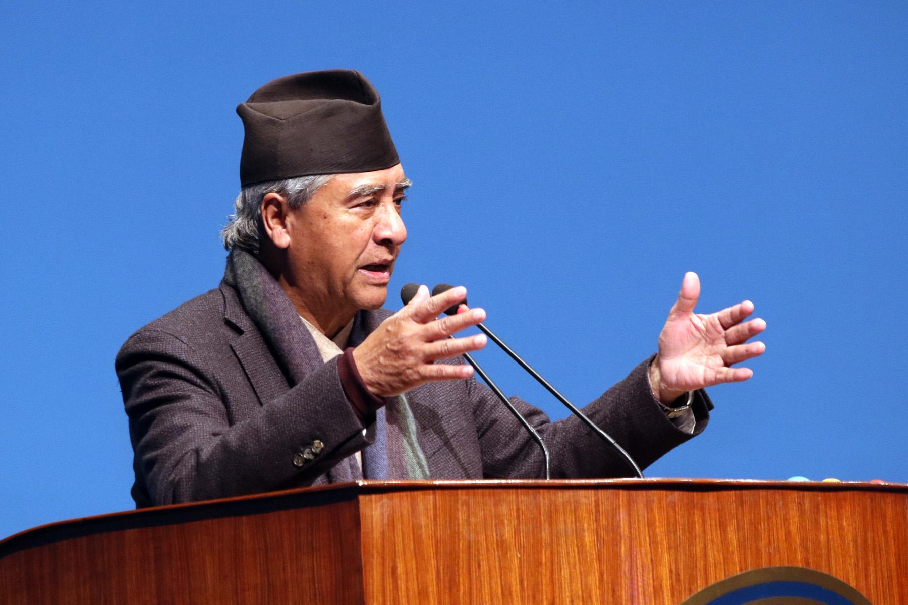 माओवादीले समर्थन फिर्ता नलिएसम्म नयाँ सरकारको सम्भावना छैन : सभापति देउवा