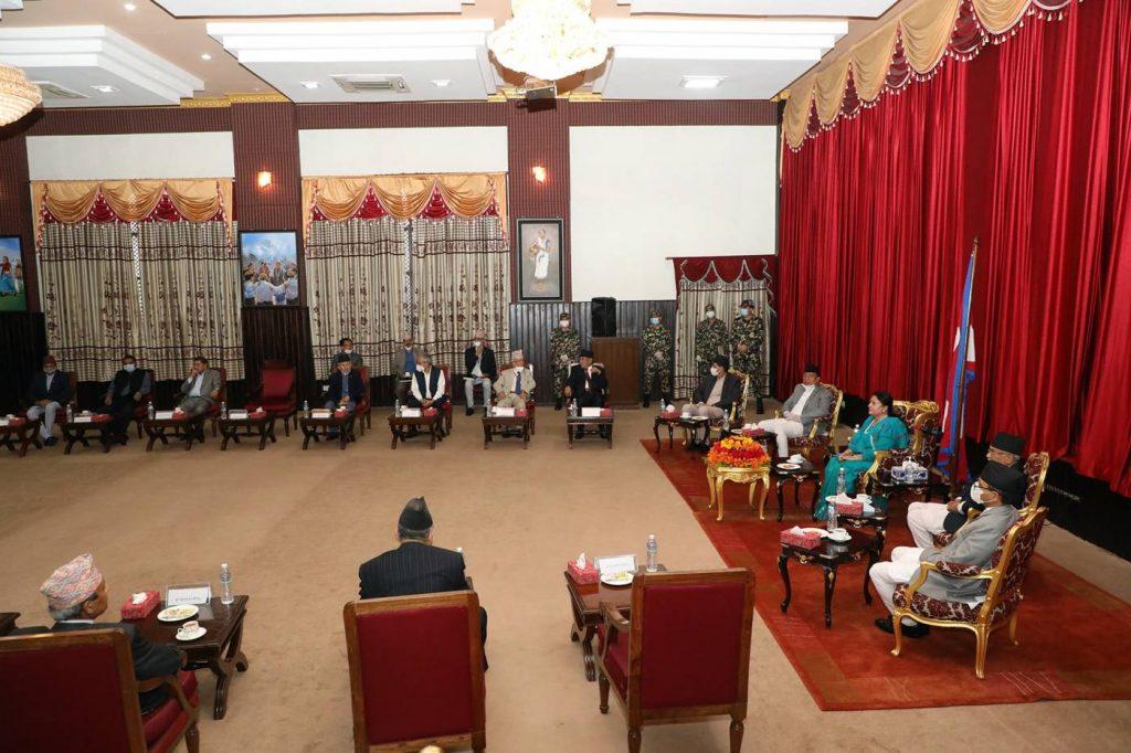 राष्ट्रपतिद्वारा उच्चस्तरीय भेटघाट