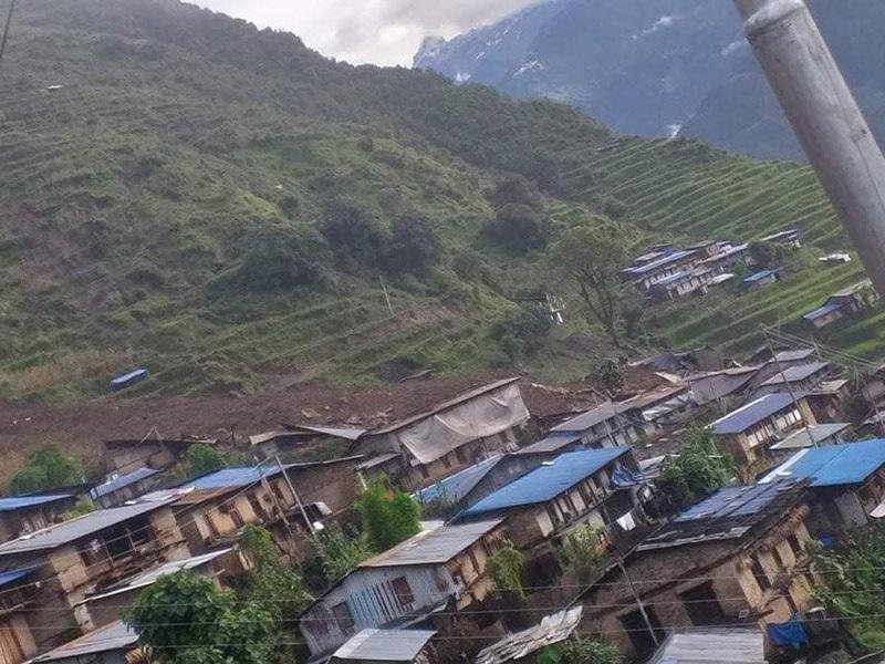 लिदी पहिरोः ३८ बेपत्ता, ३५ घरमा क्षति, ८ घाइते (सूचीसहित)