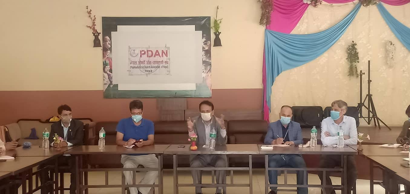 कांग्रेस अनुगमन समितिले गर्यो  नेपाल औषधि थोक व्यावसायी संघ संग छलफल