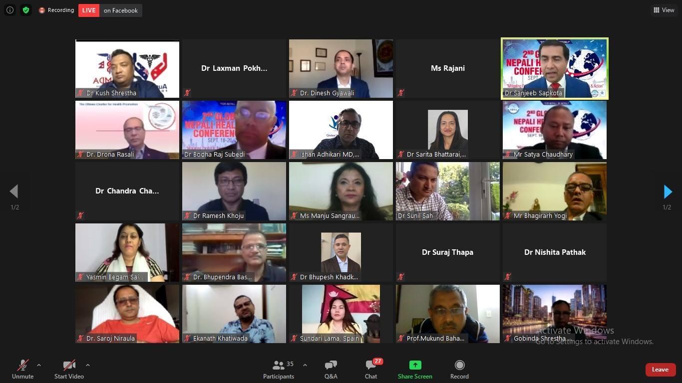 २६ बुँदे घोषणापत्र जारी गर्दै एनआरएनए दोस्रो विश्व स्वास्थ्य सम्मेलनको समापन
