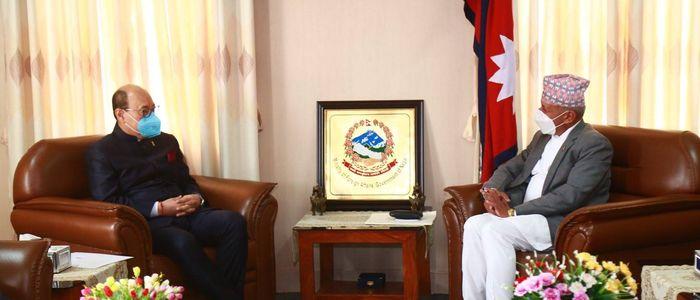 भारतीय विदेश सचिव श्रृंगलाद्वारा परराष्ट्रमन्त्री ज्ञवालीसँग भेटवार्ता