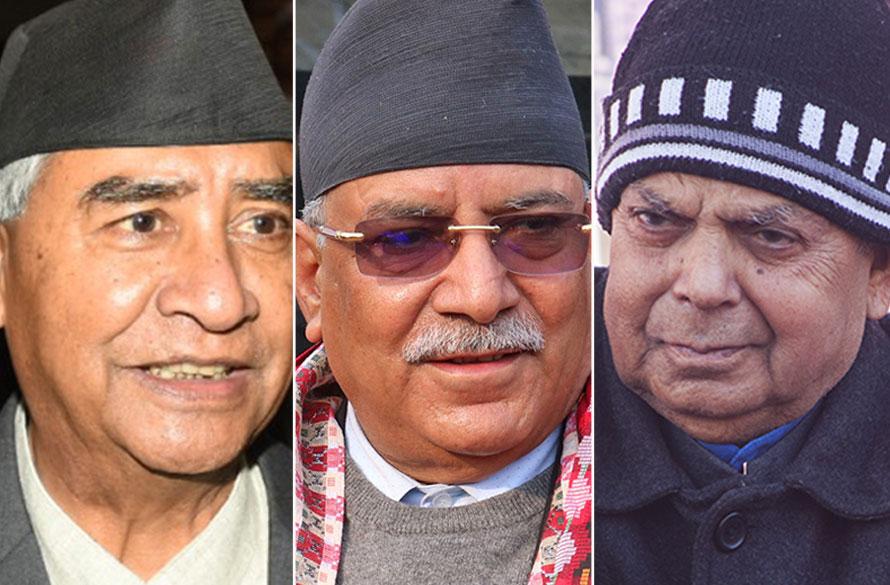 नयाँ सरकार गठनका लागि सहमति जुटाउन काँग्रेस सहित तीन दलको बैठक